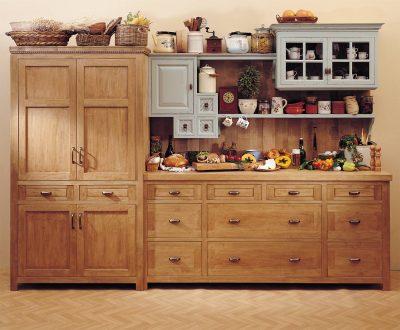 מטבח כפרי מעץ